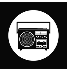 Radio portable design vector