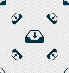 Restore icon sign seamless pattern with geometric vector