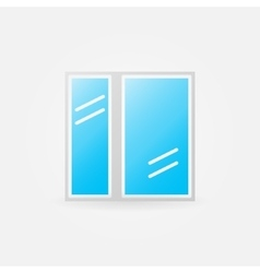Glazed window glossy icon vector