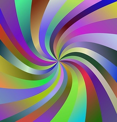 Multicolored abstract spiral ray background vector