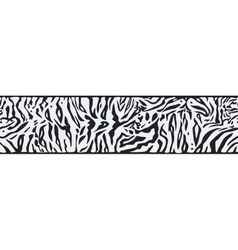 Background with white tiger skin vector
