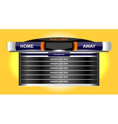 scoreboard sport chart vector image