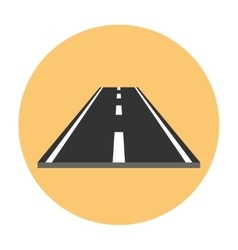 Piece of road flat icon vector