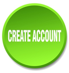Create account green round flat isolated push vector