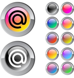 At multicolor round button vector