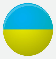 Ukraine flag icon flat vector
