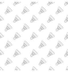 Badminton shuttlecock pattern seamless vector