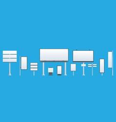 billboard flat set of different perspectives vector image vector image