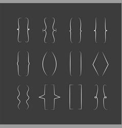 braces signs curly brackets symbols set vector image