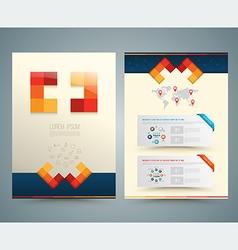 Brochure or flyer design medical style vector