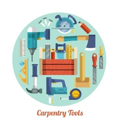 Carpentry tools set vector image vector image