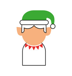 christmas elf avatar character vector image