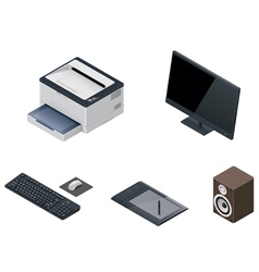 computer devices icon set vector image vector image