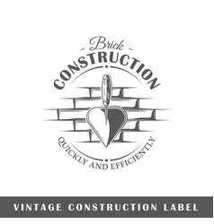 construction labe vector image
