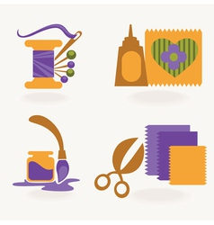 craft and hand made collection vector image
