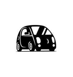 delf-driving driverless vehicle car side view vector image vector image