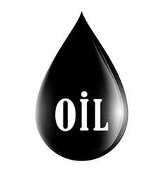 drop of oil isolated on white background vector image vector image