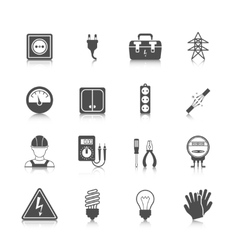 Electricity icon black vector image