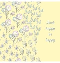 Fantastic flower card vector