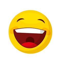 funny happy emoticon icon vector image