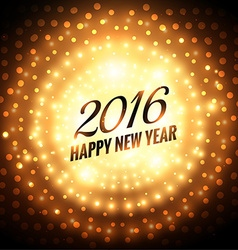 happy new year 2016 glowing greeting vector image vector image