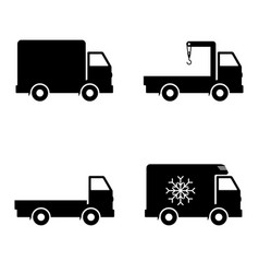 icon set delivery car vector image vector image