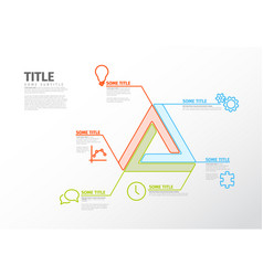 Infographic report template with impossible shape vector