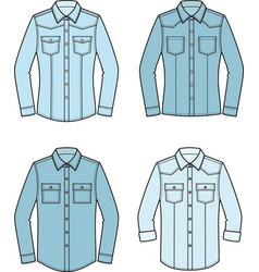 Jean shirt set vector