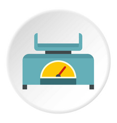Mechanical scales icon circle vector