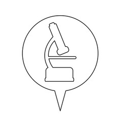 Microscope line icon education vector