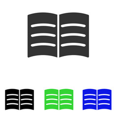 Open book flat icon vector