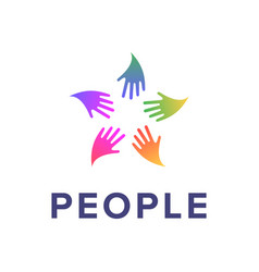 people logo template social relationship icon vector image