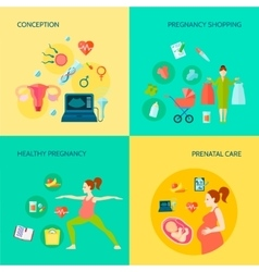 Pregnancy concept icons set vector