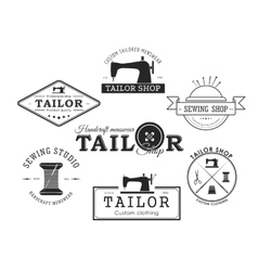 Set fo tailor badge and labes vector