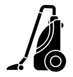 vacuum cleaner icon black vector image