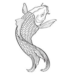 Koi Fish3 vector image