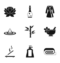 Relaxation icons set simple style vector