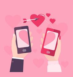mobile valentine day vector image