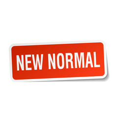 New normal square sticker on white vector