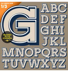 An old fashioned alphabet vector