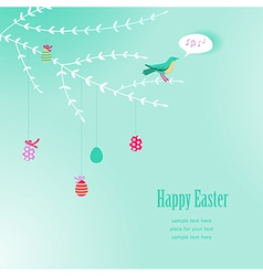 Branch easter background vector