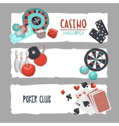Game design banner vector