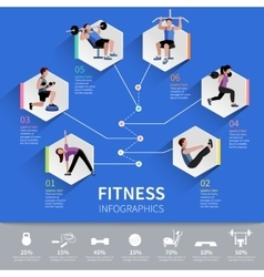 Fitness people infographic presentation design vector
