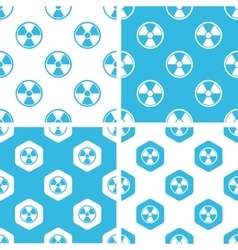 Radiohazard patterns set vector