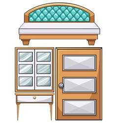 Furniture in the bedroom vector