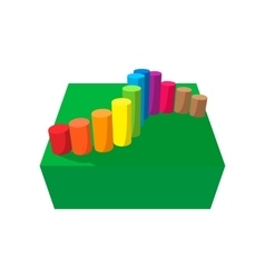 Obstacle course playground cartoon icon vector