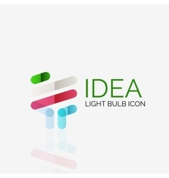Logo light bulb abstract linear geometric vector