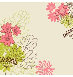 Abstract flowers background vector image