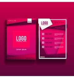Brochure flyer design layout template 001 vector