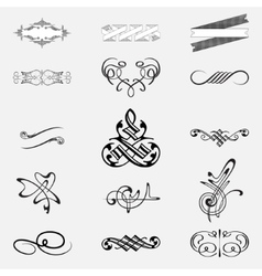 Calligraphic design elements set vector